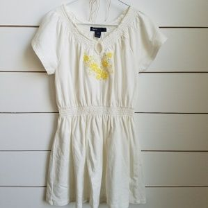 Yellow Flower Embroidered Dress